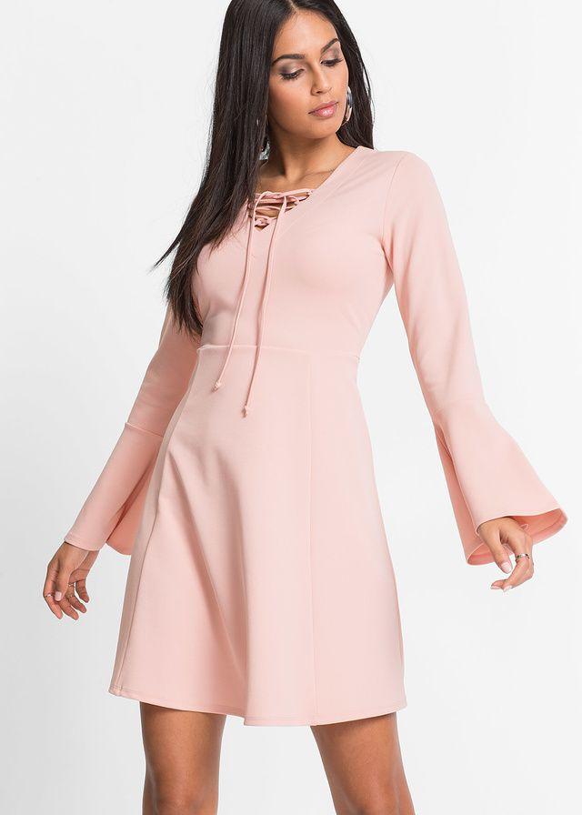 Sukienka z szerokimi rękawami różowa   http://fashion4u.pl