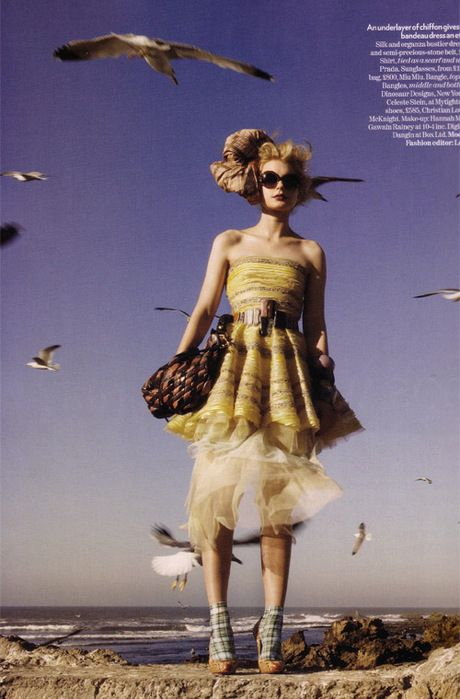 Vogue UK May 2008: Jessica Stam by Patrick Demarchelier