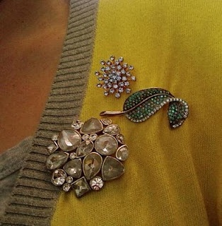 Brooches are one of the fashion trends for fall.  #falltrends