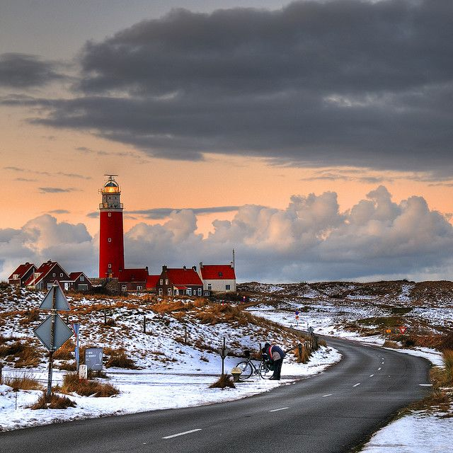 Lighthouse at the Dutch Island Texel