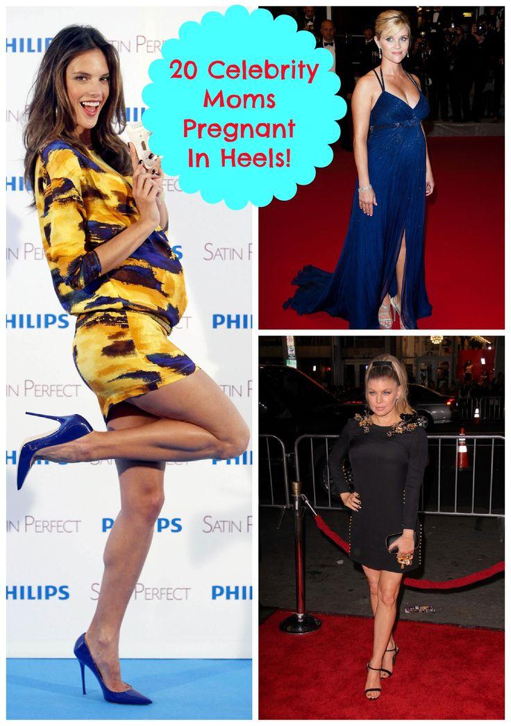 Kristen Bell, Kim Kardashian, Fergie! 20 Pregnant Celebrities Who Have Rocked High Heels! (Photos)
