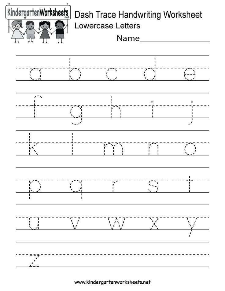 Kindergarten Dash Trace Handwriting Worksheet Printable Click More Picture Crafts Craftsforkids Craftprojects Kunst Kegiatan Sekolah Belajar Menulis Printable handwriting worksheets for