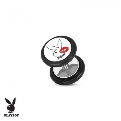 Faux Piercing Plug Acier lapin blanc Playboy® bisou https://piercing-pure.fr/p/522-faux-piercing-plug-acier-lapin-blanc-playboy-bisou.html #kiss #bisou #lapin #fauxpiercing #piercing #plug #ecarteur #fauxplug #fauxecarteur #playboy