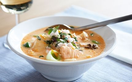 Fisksoppa med apelsin och stjärnanis