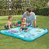 inflatable water squirter mat for the summer