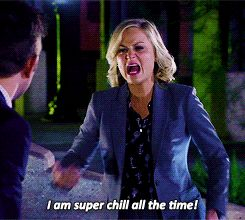 Leslie Knope, super chill all the time!