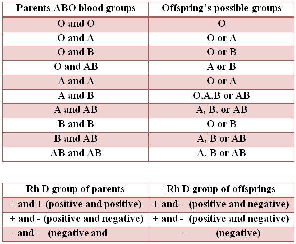 Rh Negative Genetics