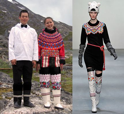 Greenland style kamik on catwalk | Arctic Fashion ...
