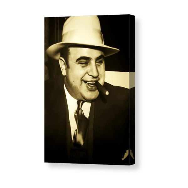Chicago Gangster Al Capone Canvas Print Canvas Art By Bill Cannon Canvas Prints Al Capone Stretch Canvas