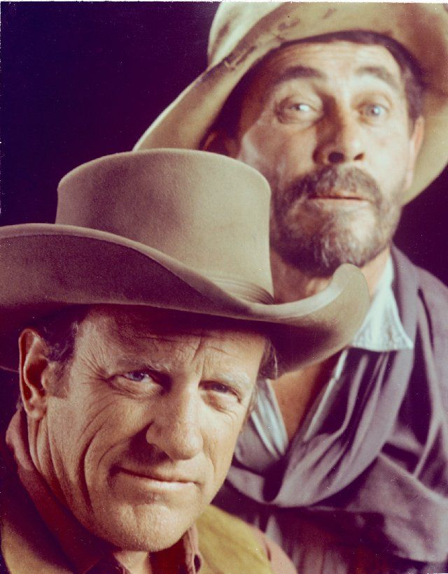 Still of James Arness and Ken Curtis in Gunsmoke