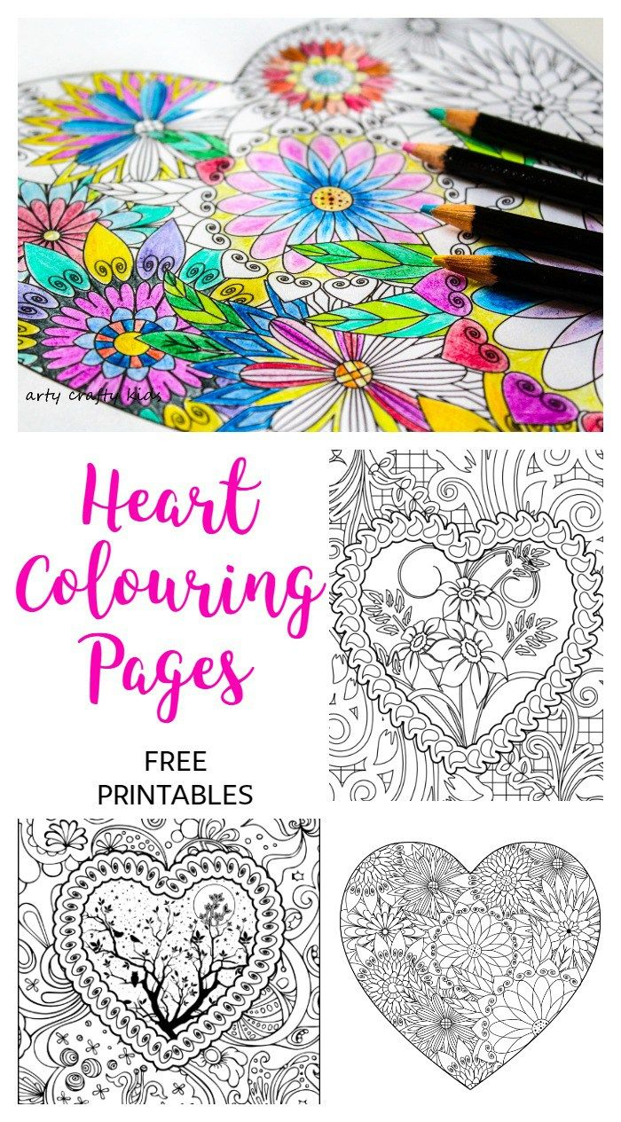 Colouring in for adults why - Arty Crafty Kids Colouring Pages Hearts Heart Coloring Pages Free Heart Coloring