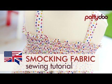 Stoff mit der Nähmaschine smoken | Smocking fabric with a sewing machine | pattydoo Nähblog