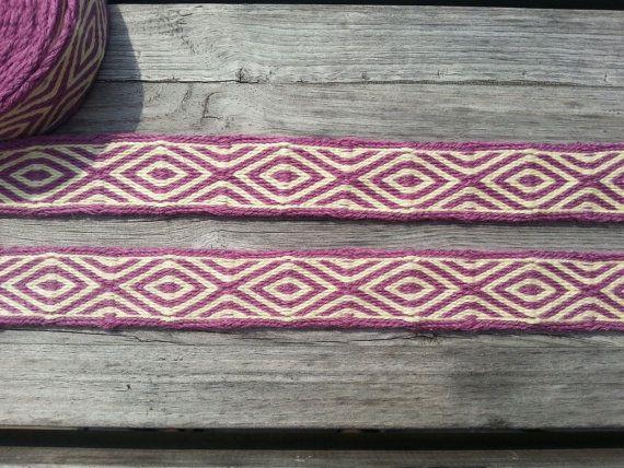 Tablet weaving, card weaving trim, pure wool