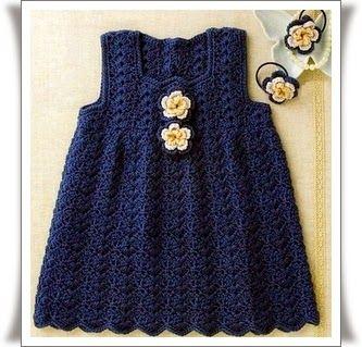Örgü Renkli Bebek Elbise Modelleri19