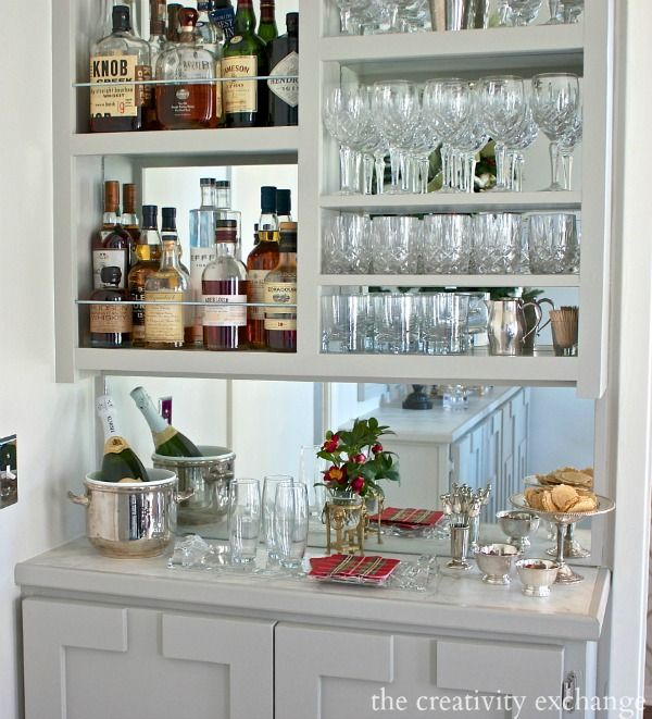 DIY Narrow Built In Bar With Plans. The