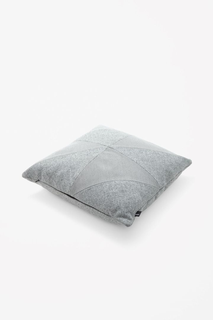 Square contrast cushion