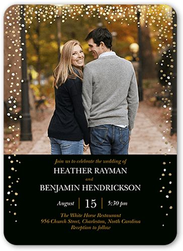 Sparkling Romance 5x7 Wedding Invitations By Clover I Love This One...maybe  Instead