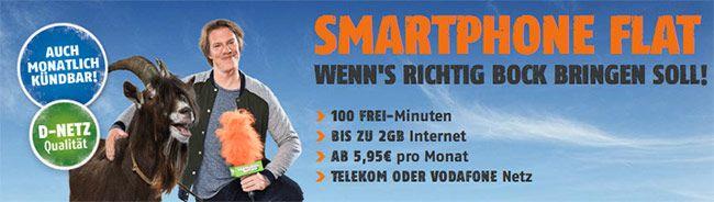 Klarmobil Smartphone Flat Tarife ab 5,95€ ★ Telekom / Vodafone Netz ★ http://www.simdealz.de/vodafone/klarmobil-smartphone-flat-angebote/