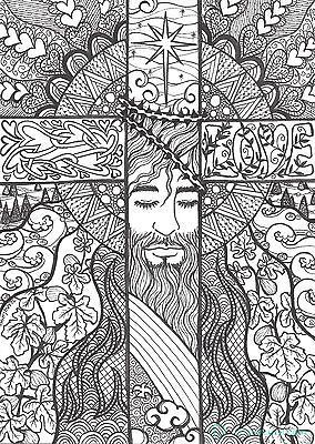 Christian cross jesus is love tangle coloring page for Adult coloring pages cross