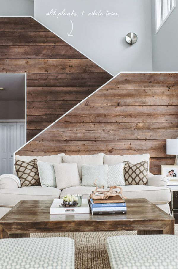 architectural stairs with old wood planks and white trim // coco+kelley