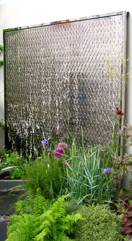 Fish Scale Water Feature (with Polished Stainless Steel Petals Or Scales). Wall  Water FeaturesGarden ...