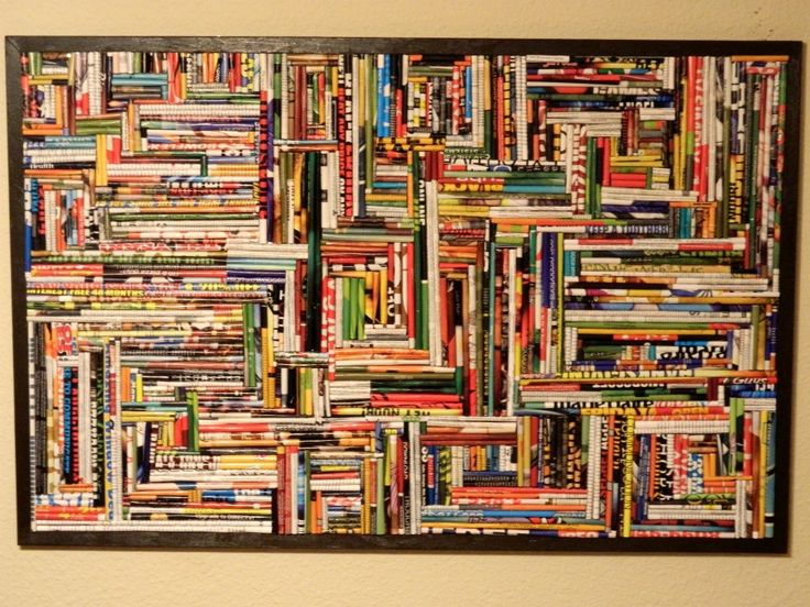 """My friend made this picture simply by rolling up pages from magazines!"" - Imgur, saw it on reddit"