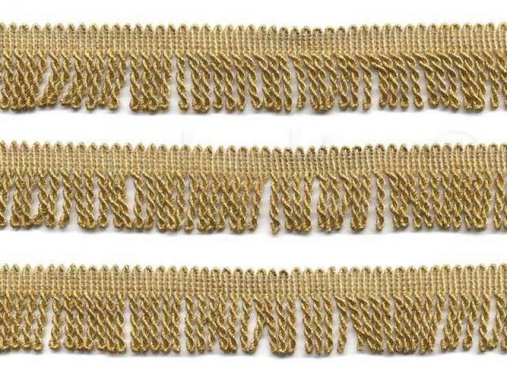 goud lurex franje band 3 cm