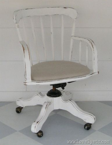 Love this banker's chair makeover!