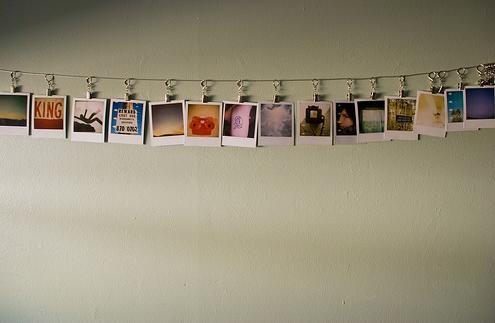 Display Ideas:  Polaroid on a String & More