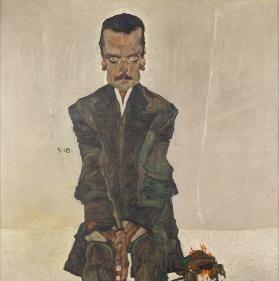 Egon Schiele, Eduard Kosmack, 1910, Öl auf Leinwand, 99,8 x 99,5 cm, Belvedere, Wien, Inv.-Nr. 4702