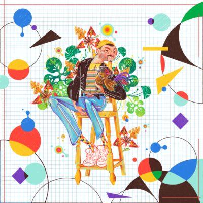 Es mi chico lunar. 🌈🌙🛶🚀🙌🏻 🌑🌗🌖🌕🌔🌓🌑#illustreak ##ballpitmag#illustration #instaillustration #boyswithplants#love #design #characters #physics #physics#guy #indie #art_empire #artweinspire#art_gallery #live