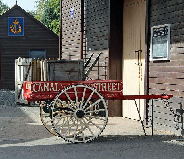 Victorian wooden cart