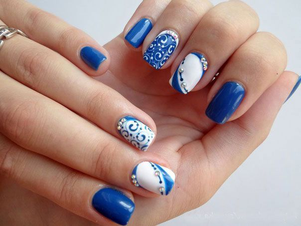 The 25 best two color nails ideas on pinterest french nails two colors nail design prinsesfo Choice Image