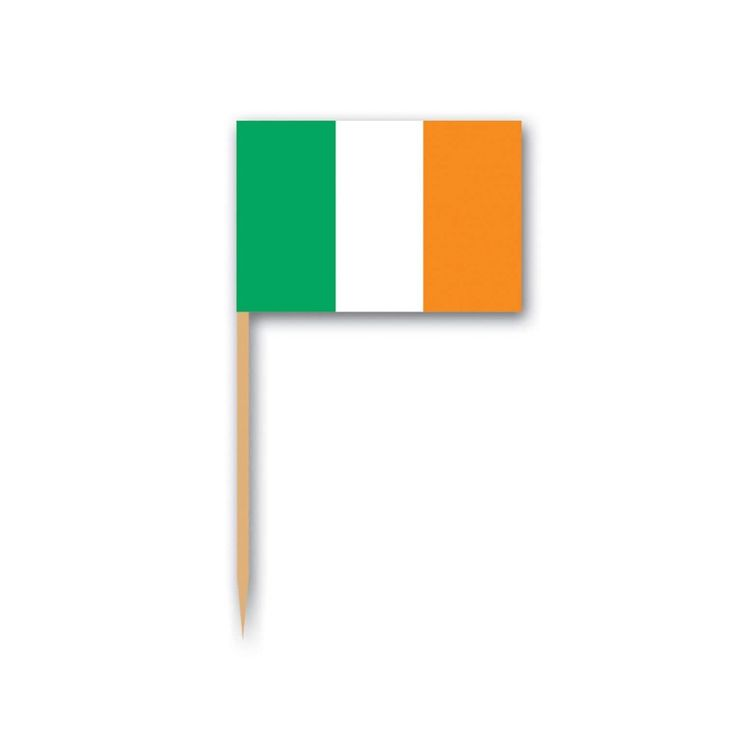 Club Pack of 600 Green, White and Orange Irish Flag Food, Drink or Decoration Party Picks 2.5
