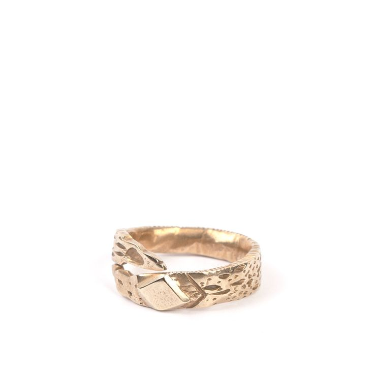 Moonscape ring, 14K gold $1590