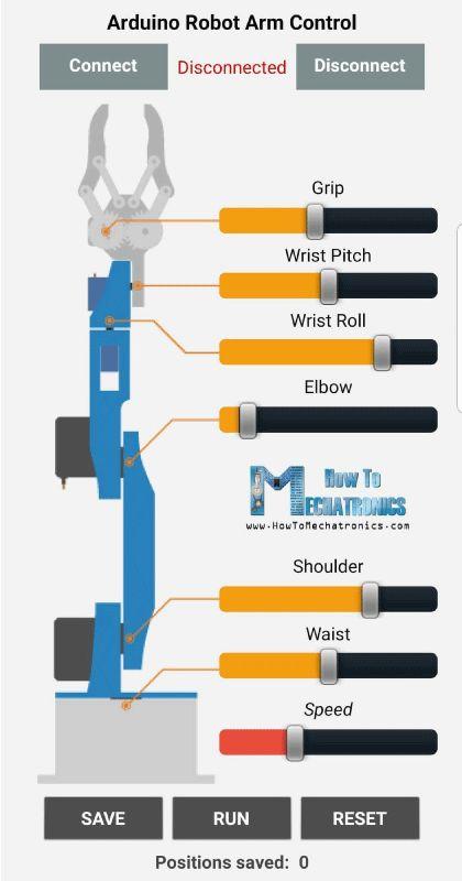 DIY Arduino Robot Arm with Smartphone Control – HowToMechatronics
