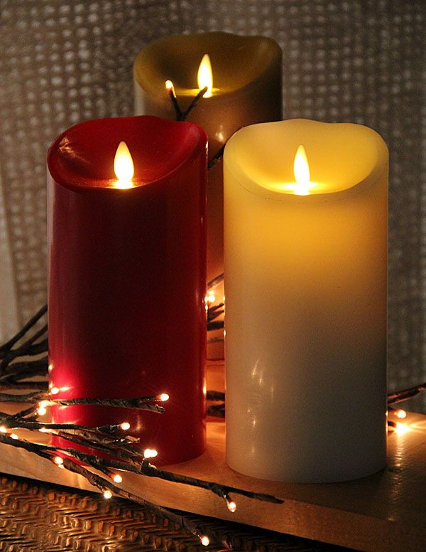 Inch Sage Luminara Flameless Candle - 5 Hour Timer