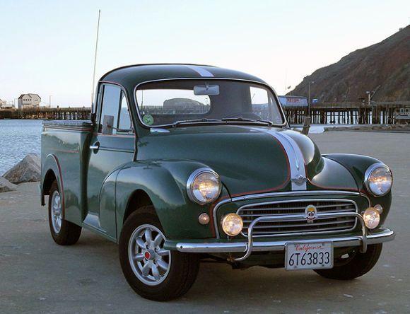 1957 Morris Minor 1000 Pickup, truck, wheels, oldsmobile, vehicle, transportation, curves, photography, photo.