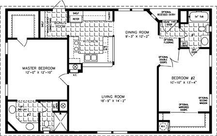 The TNR-4446B - Manufactured Home Floor Plan   Jacobsen Homes