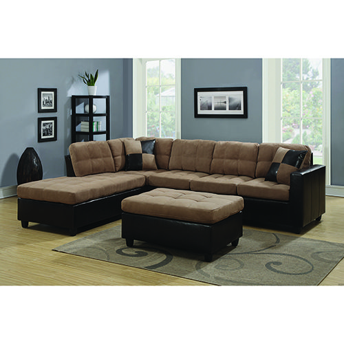 Coaster Furniture 505675 Tan & Chocolate Reversible Sectional Black Contemporary and Modern   Bellacor   – Products