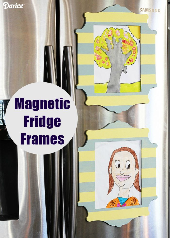 DIY Fridge Decor: Magnetic Photo Frames Tutorial - Live Craft Love - The Darice Craft Blog