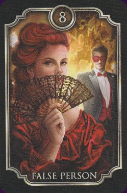 The Fin de Siecle Kipper is a set of German divination cards illustrated in Victorian style by veteran tarot artist, Ciro Marchetti. A Kipper deck is similar to Lenormand, but focuses more on people than events in its cards. This set has 39 cards: the 36 standard for a Kipper deck, plus three new additions.