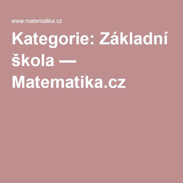 Kategorie: Základní škola — Matematika.cz