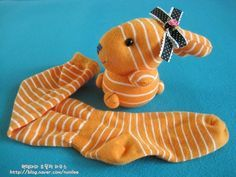 ▶ not write a pair of socks is sufficient. Sock rabbit doll making :: Naver blog