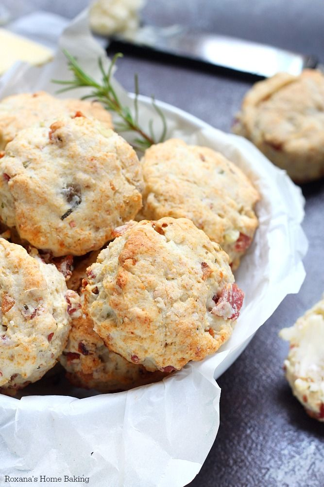 Quick and easy flaky bacon biscuits made with leftover mashed potatoes and fresh rosemary. It will take less than 30 minutes to make them!