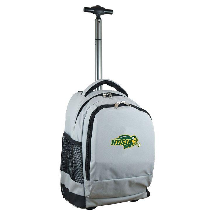 NCAA North Dakota State Bison Grey Premium Wheeled Backpack