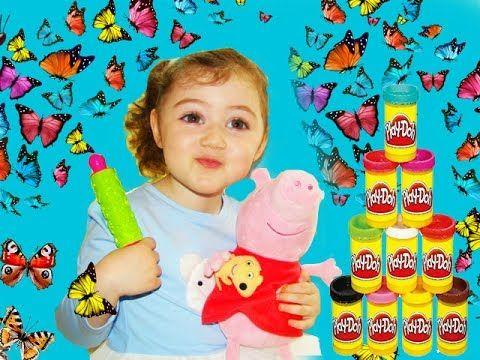 БАБОЧКИ с блестками из PLAY DOH  🦋  Лепим с детьми  🦋  Игры для детей с ...