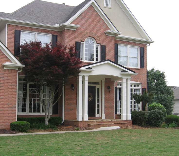 Small Porch Designs Can Have Massive Appeal: 45 Best Front Porticos For Great Curb Appeal Images On