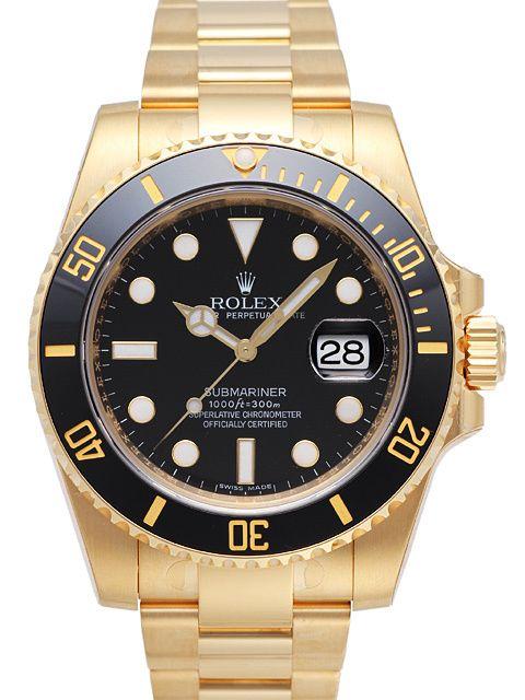 Rolex Submariner Date 116618 LN Gelbgold