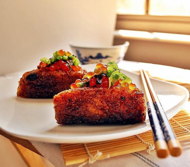 Japanese appetizer favorite - Yaki Onigiri (grilled rice balls) - my fav!!